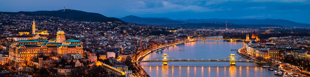 Aerial view of Budapest, Hungary Stock Photos
