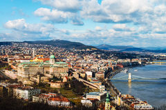 Aerial view of Budapest, Hungary with clouds Stock Photography