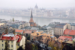 Aerial view of Budapest Royalty Free Stock Photography