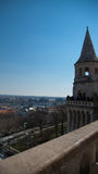 Aerial view of Budapest, Hungary from Fisherman's Bastion Royalty Free Stock Images