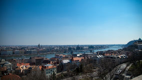 Aerial view of Budapest, Hungary  Royalty Free Stock Image