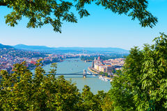 Aerial view of Budapest, Hungary Stock Photography