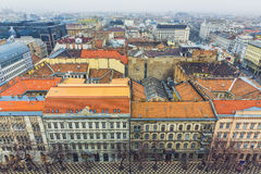 Aerial View On Budapest At Winter Stock Image