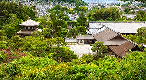 Aerial view of buddhist temple and garden in Kyoto, Japan Royalty Free Stock Image