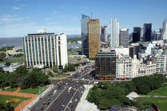 Aerial view of Buenos Aires Royalty Free Stock Photography