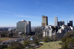 Aerial view of Buenos Aires Royalty Free Stock Photos