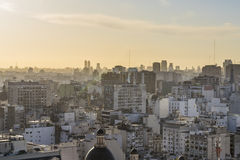 Aerial View of Buenos Aires Argentina Stock Photo