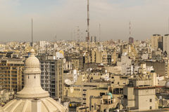 Aerial View of Buenos Aires from Panoramic Viewpoint Royalty Free Stock Images