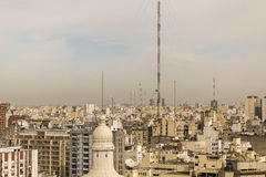 Aerial View of Buenos Aires from Panoramic Viewpoint Royalty Free Stock Photos