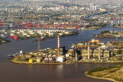 Aerial View of Buenos Aires from Window Plane Royalty Free Stock Image