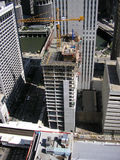 Aerial View of Building Construction Stock Image