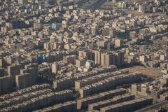 Aerial view of Tehran city, Iran royalty free stock image