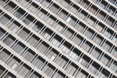 Aerial View of Building Windows Royalty Free Stock Photography