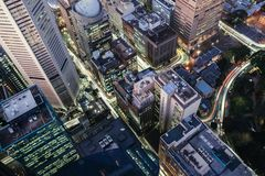 Aerial View of Buildings Royalty Free Stock Image