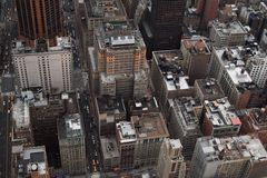 Aerial view of buildings. Manhatten view taken from Empire State Building Royalty Free Stock Images