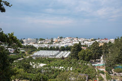 Aerial view of buildings in Anacapri Stock Photos