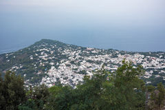 Aerial view of buildings in Anacapri from Monte Solaro Stock Image