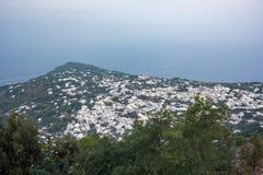 Aerial view of buildings in Anacapri from Monte Solaro. Capri Island, Italy Stock Image