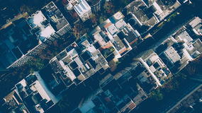 Aerial View of Buildings during Daytime Royalty Free Stock Images