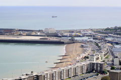 Aerial view of buildings from Dover Royalty Free Stock Photography