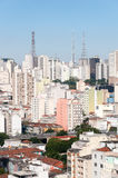 Aerial view of buildings on Paulista avenue Royalty Free Stock Photos