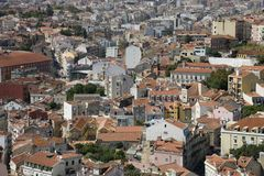 Aerial view of buildings in Portugal. Stock Photography