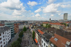 Aerial view of buildings and streets of Brussels Stock Photos