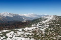 Aerial  view - the Bulgarian mountains Stock Images