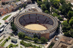Aerial view of the bullring of Jaen Stock Photos
