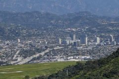Aerial view of the Burbank aera. Los Angeles, California Stock Photos