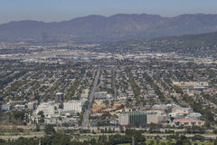 Aerial view of the Burbank aera. Los Angeles, California Stock Photography