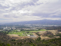 Aerial view of Burbank cityscape. From Hollywood Hills Royalty Free Stock Images
