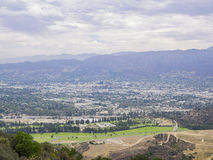 Aerial view of Burbank cityscape. From Hollywood Hills royalty free stock image