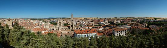 Aerial view of Burgos Stock Images