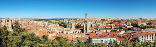 Aerial view of Burgos Royalty Free Stock Photos