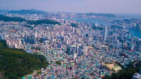 Aerial view of Busan city, South Korea. Aerial view of Busan fro stock photos