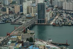 Aerial view of Busan, South Korea royalty free stock images