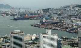 Aerial view of Busan, South Korea stock photos