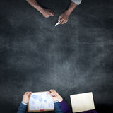 Aerial View Business People Community Planning Brainstorming Con Stock Photography