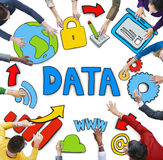 Aerial View of Business People and Data Concept.  Stock Image