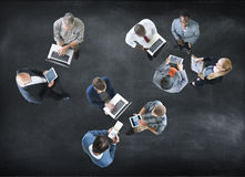 Aerial View Business People Working Community Togetherness Conce. Pt Stock Image