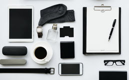 Aerial view of businessman stuff masculinity Stock Photos