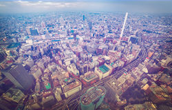 Aerial view of a bustling city Royalty Free Stock Photography