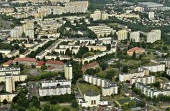 Aerial view - Bydgoszcz, Poland Stock Images