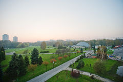 Aerial view from cable car of park at Upper Silesia, Katowice an Royalty Free Stock Photo