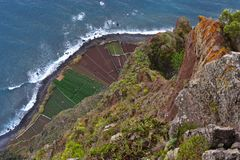 Aerial view, Cabo Girao, Island of Madeira, Portugal royalty free stock photography
