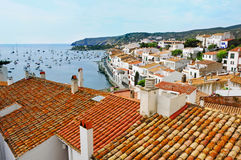 Aerial view of Cadaques, Spain Royalty Free Stock Photo