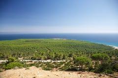 Aerial view of Cadiz coastline Royalty Free Stock Photo