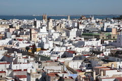 Aerial view of Cadiz, Spain Royalty Free Stock Photography