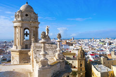 Aerial view of Cadiz, Spain Stock Photography